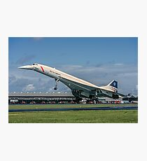 Concorde 102 G-BOAB landing at Farnborough Photographic Print