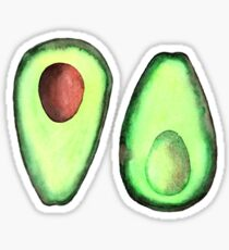 Watercolor Avocado Sticker