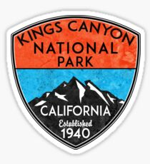 KINGS CANYON NATIONAL PARK CALIFORNIA MOUNTAINS HIKE HIKING CAMP CAMPING NATURE  Sticker
