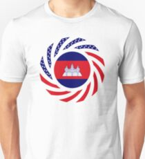 Cambodian American Multinational Patriot Flag T-Shirt