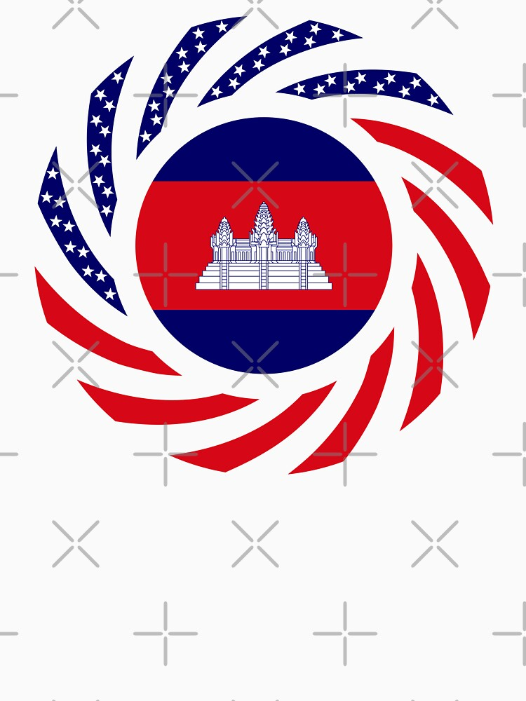 Cambodian American Multinational Patriot Flag by carbonfibreme