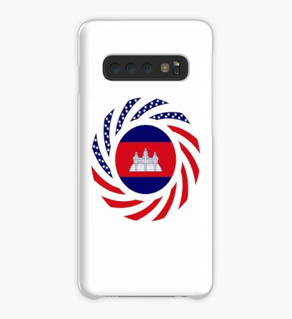 Cambodian American Multinational Patriot Flag Case/Skin for Samsung Galaxy