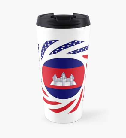 Cambodian American Multinational Patriot Flag Travel Mug