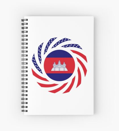 Cambodian American Multinational Patriot Flag Spiral Notebook
