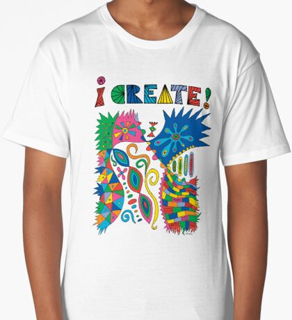 i Create On Track Long T-Shirt