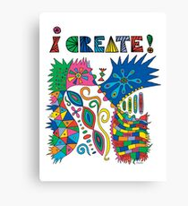 i Create On Track Canvas Print