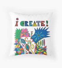i Create On Track Throw Pillow