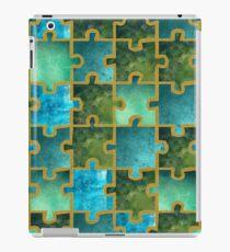 Puzzle grünblau iPad Case/Skin