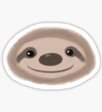Smiley Sloth Sticker