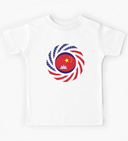 Chinese/Cambodian American Multinational Patriot Flag Series Kids Clothes