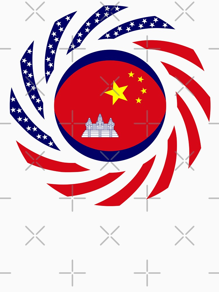 Chinese/Cambodian American Multinational Patriot Flag Series by carbonfibreme