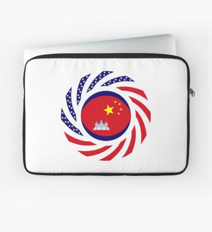 Chinese/Cambodian American Multinational Patriot Flag Series Laptop Sleeve