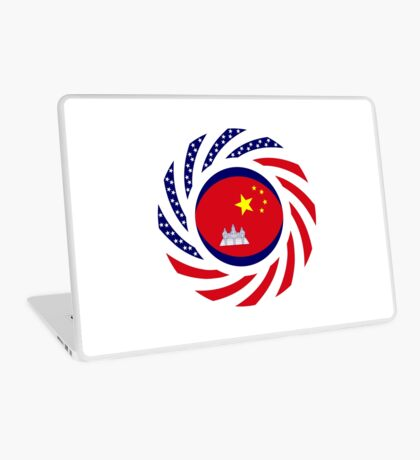Chinese/Cambodian American Multinational Patriot Flag Series Laptop Skin