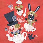 Mad Hatter's Tea Party - Alice in Wonderland by WanderingBert