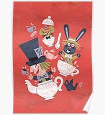 Mad Hatter's Tea Party - Alice in Wonderland Poster