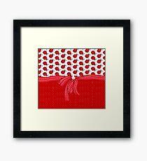 Sweet Red Ladybugs Framed Print