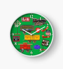 Toy Trains Clock