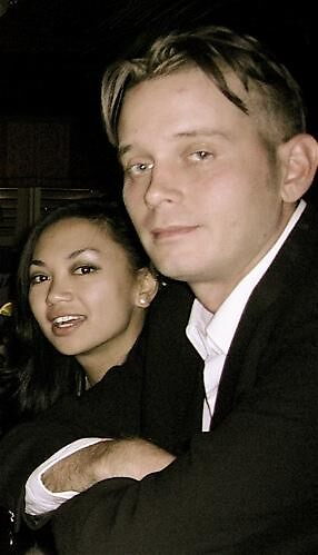 Jake, my son, and Mymx, his Lady, marrying on New Year's Eve in Ocean Beach. by susy zelaya