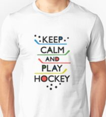 Keep Calm and Play Hockey - on white     T-Shirt