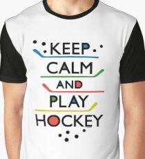 Keep Calm and Play Hockey - on white     Graphic T-Shirt