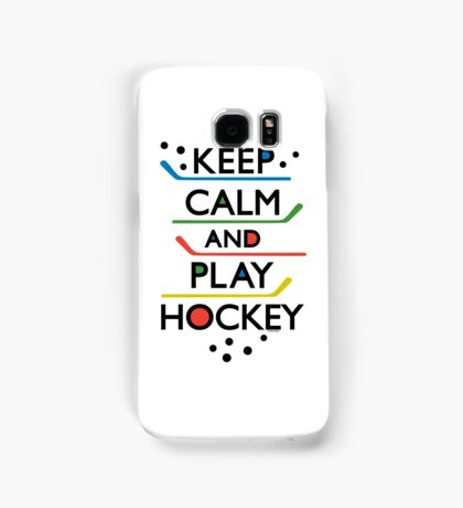 Keep Calm and Play Hockey - on white     Samsung Galaxy Case/Skin