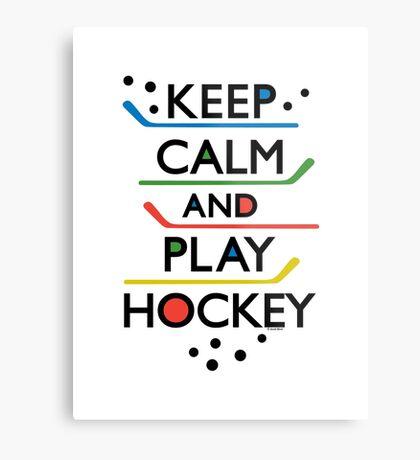 Keep Calm and Play Hockey - on white     Metal Print