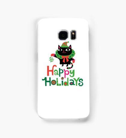 Happy Catiday Holiday   Samsung Galaxy Case/Skin