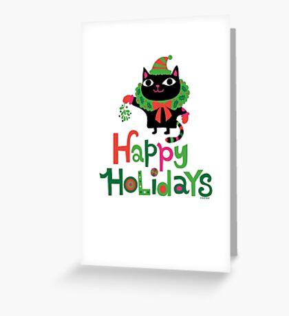 Happy Catiday Holiday   Greeting Card