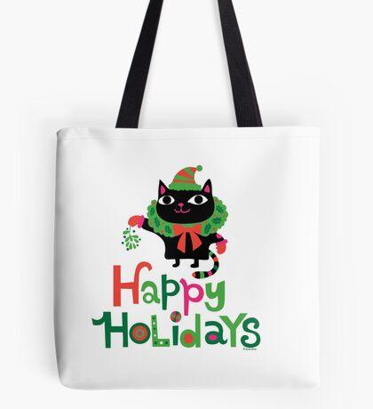 Happy Catiday Holiday   Tote Bag