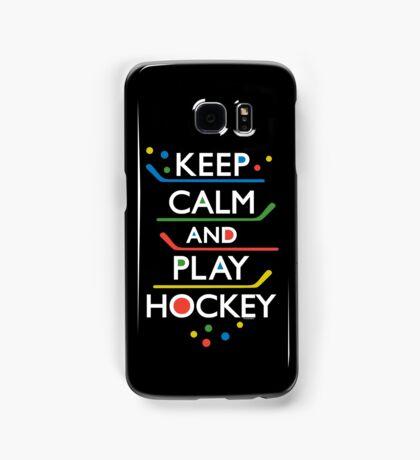 Keep Calm and Play Hockey - on dark   Samsung Galaxy Case/Skin