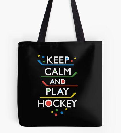 Keep Calm and Play Hockey - on dark   Tote Bag