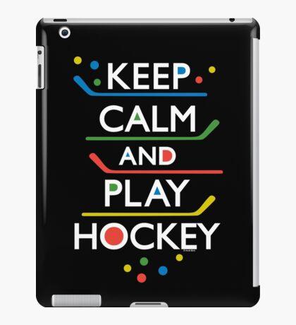 Keep Calm and Play Hockey - on dark   iPad Case/Skin