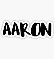 AARON Sticker