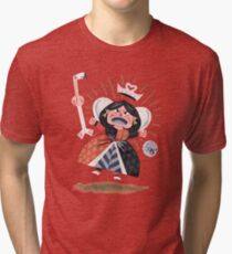 Queen of Hearts - Alice in Wonderland Tri-blend T-Shirt