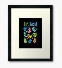 Bird Nerd - dark Framed Print