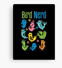 Bird Nerd - dark Canvas Print