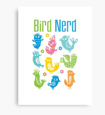 Bird Nerd - white Metal Print