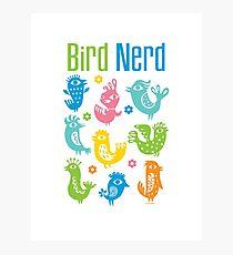Bird Nerd - white Photographic Print