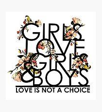 GIRLS/GIRLS/BOYS Photographic Print