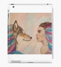 wolf and girl iPad Case/Skin
