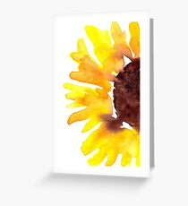 Watercolor Sunflower Greeting Card