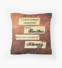 Library Love Quote Throw Pillow