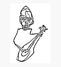 Guitarist black and white Photographic Print