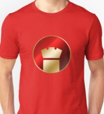 Superhero Symbol (Red and Gold) Unisex T-Shirt