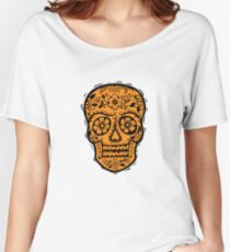 Sugar Skull SF Halloween on blk Women's Relaxed Fit T-Shirt
