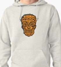 Sugar Skull SF Halloween on blk Pullover Hoodie