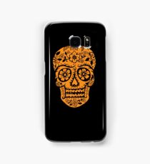 Sugar Skull SF Halloween on blk Samsung Galaxy Case/Skin