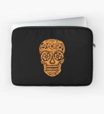 Sugar Skull SF Halloween on blk Laptop Sleeve
