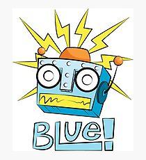 Blue the Robot Photographic Print