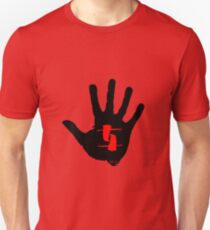 Bad Dream aro - black hand on red Unisex T-Shirt